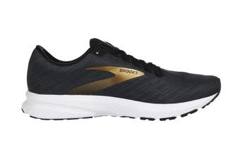 Brooks Men's Launch 7 Running Shoe (Ebony/Black/Gold, Size 8 US)