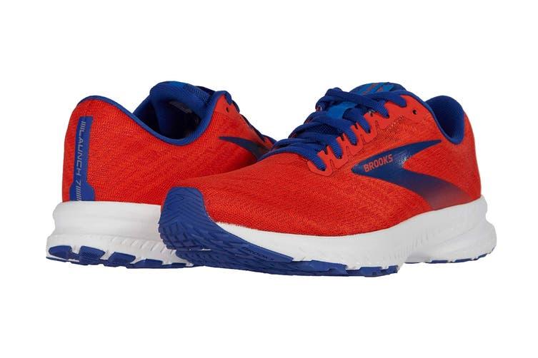 Brooks Men's Launch 7 Running Shoe (Cherry/Red/Mazarine, Size 10.5 US)