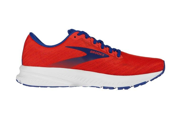 Brooks Men's Launch 7 Running Shoe (Cherry/Red/Mazarine, Size 9 US)
