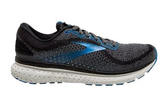 Brooks Men's Glycerin 18 Running Shoe (Black/Ebony/Blue, Size 8.5 US)