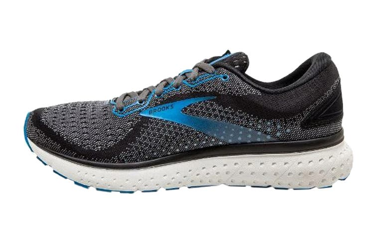Brooks Men's Glycerin 18 Running Shoe (Black/Ebony/Blue, Size 13 US)