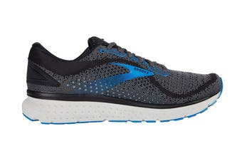 Brooks Men's Glycerin 18 Running Shoe (Black/Ebony/Blue, Size 7.5 US)