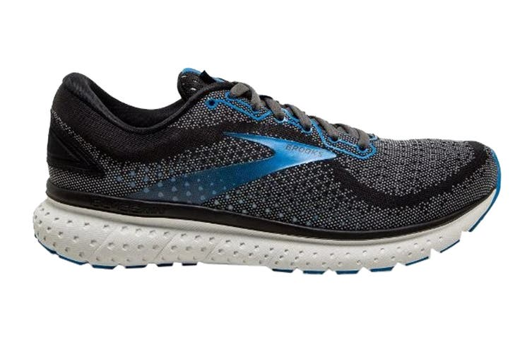 Brooks Men's Glycerin 18 Running Shoe (Black/Ebony/Blue, Size 8 US)