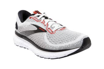 Brooks Men's Glycerin 18 Running Shoe (Grey/Black/Red, Size 10.5 US)