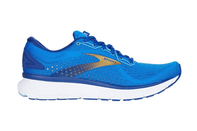 Brooks Men's Glycerin 18 Running Shoe (Blue/Mazarine/Gold, Size 8 US)