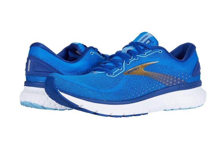 Brooks Men's Glycerin 18 Running Shoe (Blue/Mazarine/Gold, Size 9.5 US)