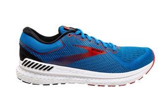 Brooks Men's Transcend 7 Running Shoe (Mazarine/Black/Red)