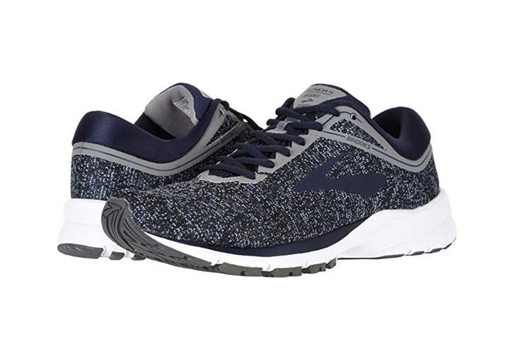 Brooks Women's Launch 5 (Black/Ebony/Primer Grey, Size 6)
