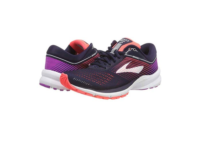 Brooks Women's Launch 5 (Navy/Coral/Purple, Size 7.5)