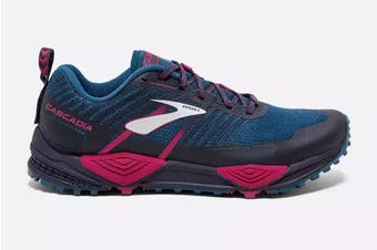 Brooks Women's Cascadia 13/SS19 Running Shoe (Ink/Navy/Pink, Size 10 US)