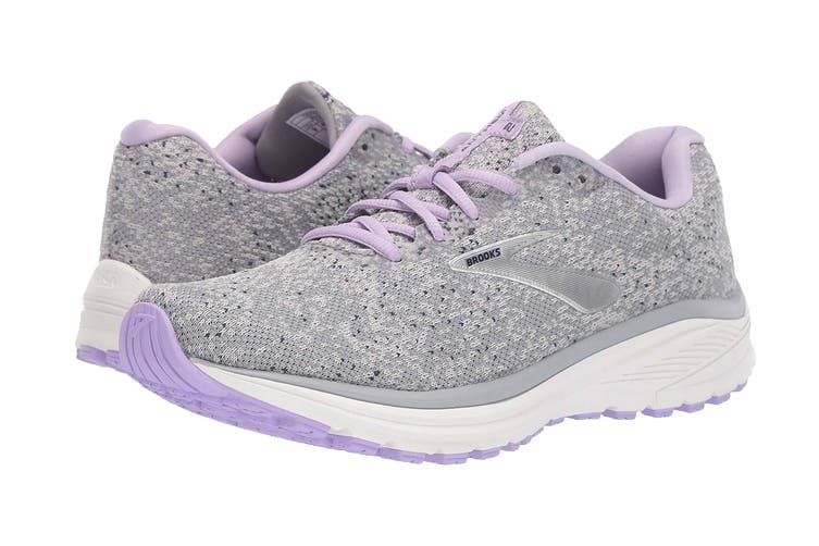 Brooks Women's Anthem 2 Running Shoe (Grey/Purple/Navy, Size 8 US)