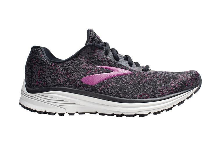 Brooks Women's Anthem 2 Running Shoe (Black/Grey/Pink, Size 6 US)