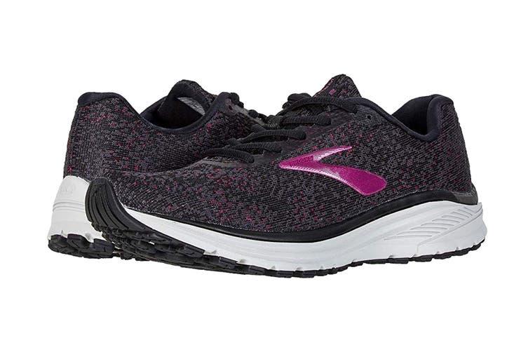 Brooks Women's Anthem 2 Running Shoe (Black/Grey/Pink, Size 8 US)