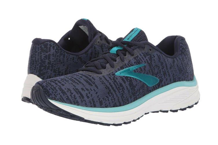 Brooks Women's Signal Running Shoe (Blue/Navy/Aqua, Size 9 US)