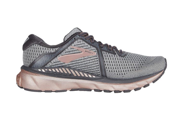 Brooks Women's Adrenaline GTS 20 Running Shoe (Alloy/Rose Gold/Blackened Pear, Size 6 US)