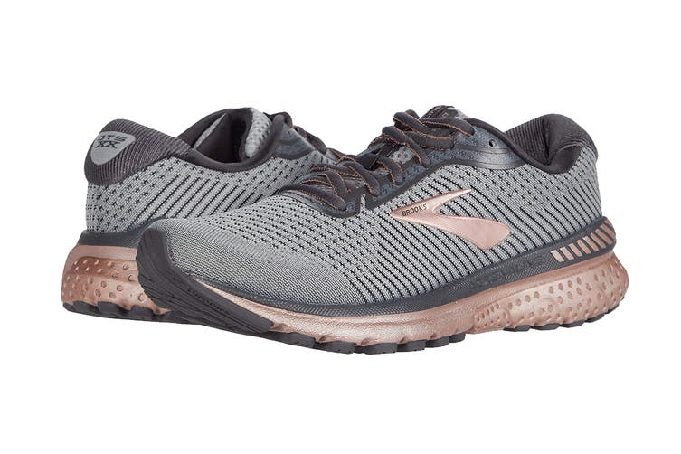 Brooks Women's Adrenaline GTS 20 Running Shoe (Alloy/Rose Gold/Blackened Pear, Size 8 US)