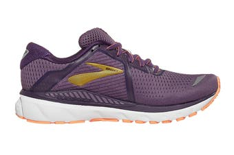 Brooks Women's Adrenaline GTS 20 Running Shoe (Grape/Jewel/Cantaloupe)