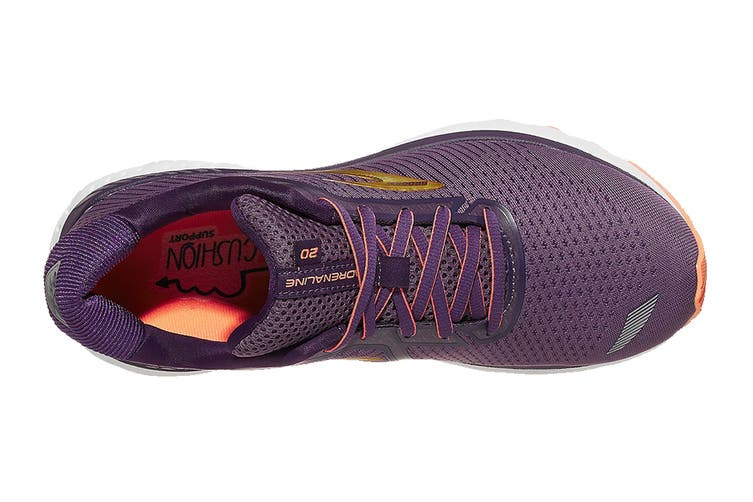 Brooks Women's Adrenaline GTS 20 Running Shoe (Grape/Jewel/Cantaloupe, Size, 8)