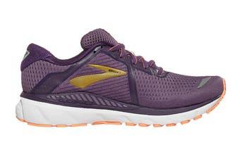 Brooks Women's Adrenaline GTS 20 Running Shoe (Grape/Jewel/Cantaloupe, Size, 9.5)