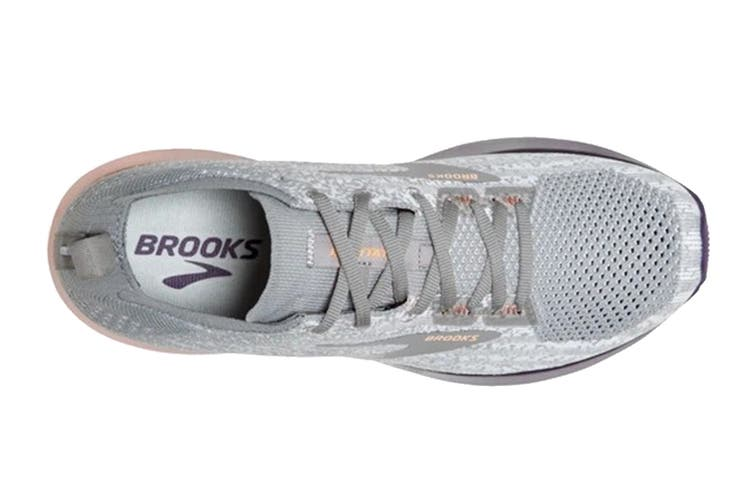 Brooks Women's Levitate 3 Running Shoe (White/Purple/Cantaloupe, Size, 6)