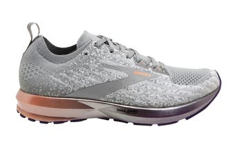 Brooks Women's Levitate 3 Running Shoe (White/Purple/Cantaloupe, Size, 8)