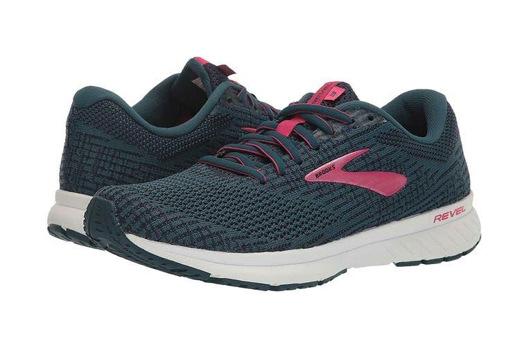 Brooks Women's Revel 3/SP20 Running Shoe (Blue/Navy/Beetroot, Size 10 US)