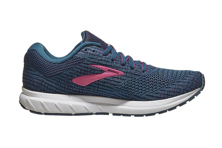 Brooks Women's Revel 3/SP20 Running Shoe (Blue/Navy/Beetroot, Size 6 US)