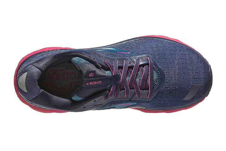 Brooks Women's Ghost 12 Running Shoe (Navy/Makolica/Beetroot, Size, 6.5)