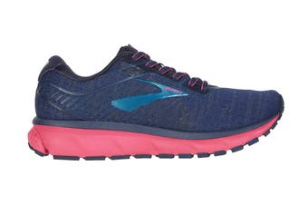 Brooks Women's Ghost 12 Running Shoe (Navy/Makolica/Beetroot)