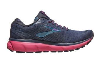 Brooks Women's Ghost 12 Running Shoe (Navy/Makolica/Beetroot, Size, 8.5)