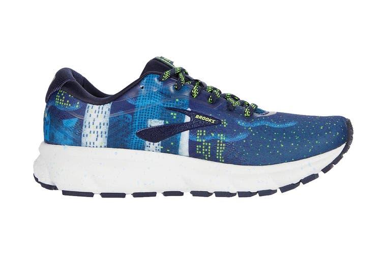 Brooks Women's Ghost 12 Running Shoe (Navy/Blue/Nightlife, Size 6 US)