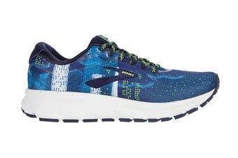 Brooks Women's Ghost 12 Running Shoe (Navy/Blue/Nightlife, Size 8 US)