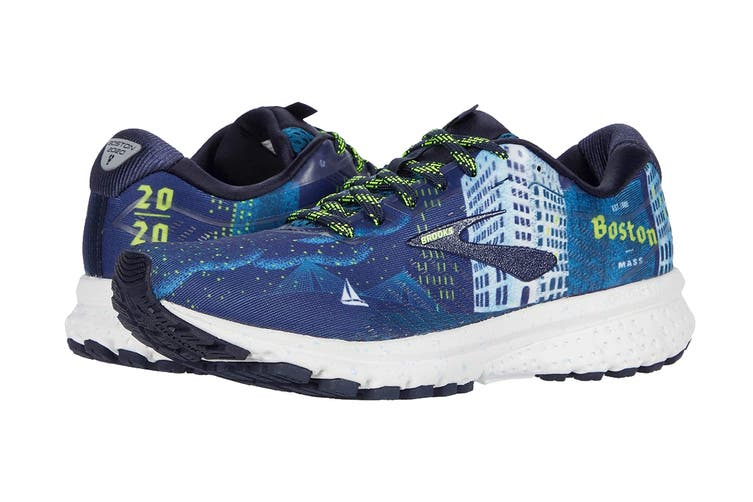 Brooks Women's Ghost 12 Running Shoe (Navy/Blue/Nightlife, Size 9 US)