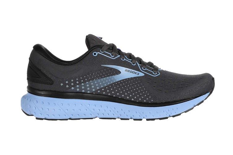 Brooks Women's Glycerin 18 Running Shoe (Black/Ebony/Cornflower, Size 6.5 US)