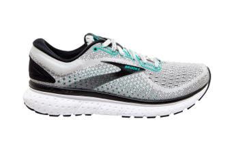Brooks Women's Glycerin 18 Running Shoe (Grey/Black/Atlantis, Size 8.5 US)