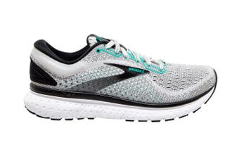 Brooks Women's Glycerin 18 Running Shoe (Grey/Black/Atlantis, Size 9 US)