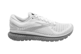 Brooks Women's Glycerin 18 Running Shoe (White/Grey/Primer, Size 8.5 US)
