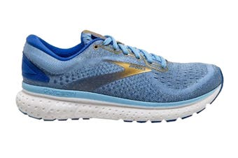 Brooks Women's Glycerin 18 Running Shoe (Cornflower/Blue/Gold, Size 7.5 US)