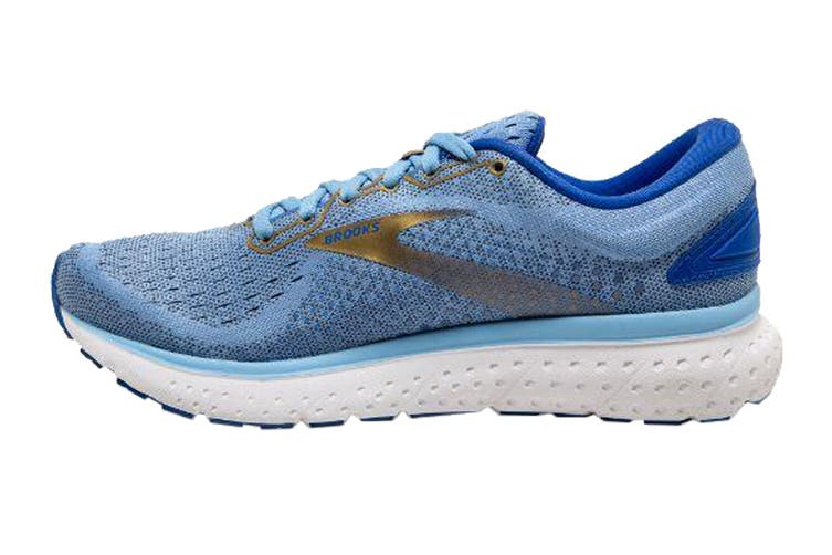 Brooks Women's Glycerin 18 Running Shoe (Cornflower/Blue/Gold, Size 9 US)