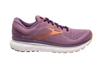 Brooks Women's Glycerin 18 Running Shoe (Valerian/Jewel/Cantaloupe, Size 8 US)