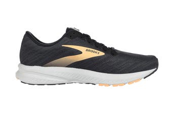 Brooks Women's Transcend 7 Running Shoe (Ebony/Black/Cantaloupe)