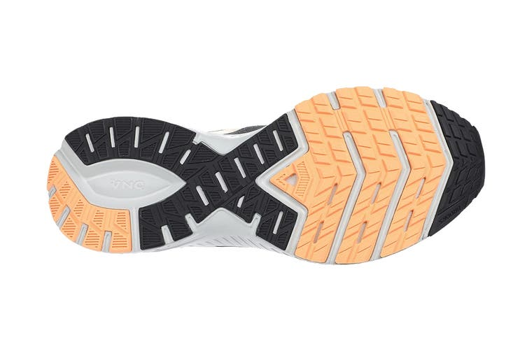 Brooks Women's Transcend 7 Running Shoe (Ebony/Black/Cantaloupe, Size 7 US)