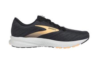 Brooks Women's Transcend 7 Running Shoe (Ebony/Black/Cantaloupe, Size 8.5 US)