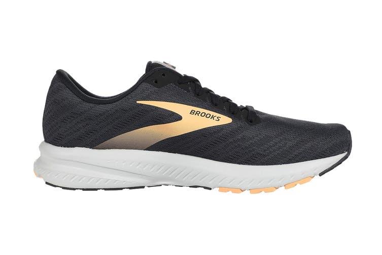 Brooks Women's Transcend 7 Running Shoe (Ebony/Black/Cantaloupe, Size 9 US)