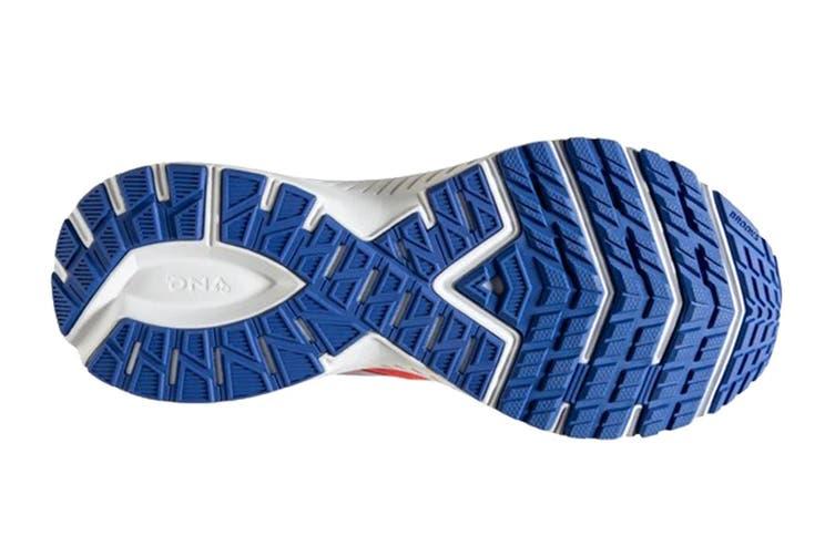 Brooks Women's Launch 7 Running Shoe (Coral/Claret/Blue, Size 8)