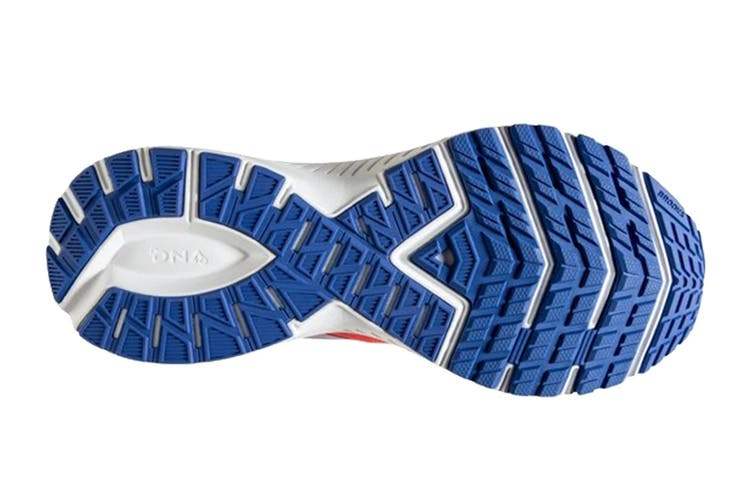 Brooks Women's Launch 7 Running Shoe (Coral/Claret/Blue, Size 9.5)