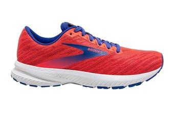 Brooks Women's Launch 7 Running Shoe (Coral/Claret/Blue, Size 9)