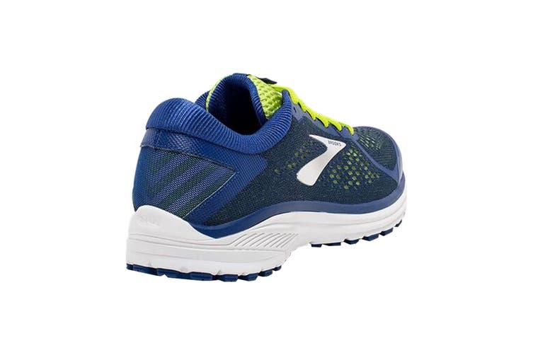 Brooks Men's Aduro 6 Running Shoe (Sodalite/Lime/White, Size 8 US)