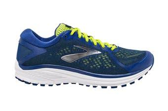 Brooks Men's Aduro 6 Running Shoe (Sodalite/Lime/White, Size 9 US)