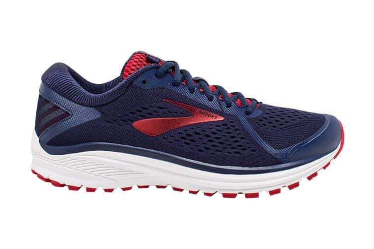 Brooks Men's Aduro 6 Running Shoe (Navy/Cherry/White, Size 7 US)